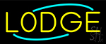 Yellow Lodge LED Neon Sign