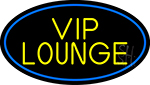 Yellow Vip Lounge Oval With Blue Border Neon Sign