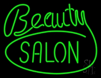 Green Cursive Beauty Block Salon LED Neon Sign
