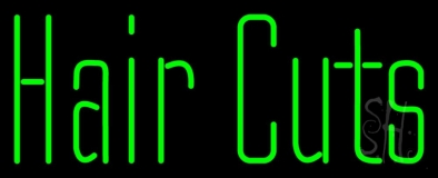 Green Hair Cuts LED Neon Sign