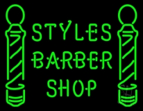 Green Styles Barber Shop LED Neon Sign