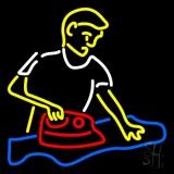 Laundry Man Logo LED Neon Sign