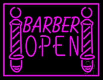 Pink Barber Open LED Neon Sign