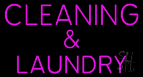 Pink Cleaning And Laundry LED Neon Sign