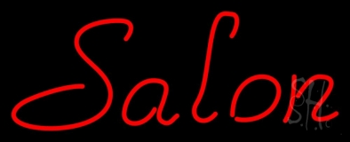 Red Salon LED Neon Sign