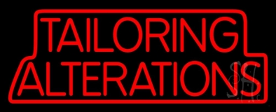 Red Tailoring Alterations LED Neon Sign