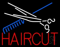 Scissor And Comb Haircut LED Neon Sign