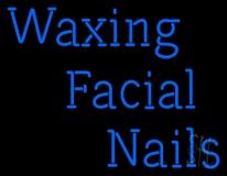 Waxing Facial Nails LED Neon Sign