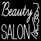 White Beauty Salon With Girl LED Neon Sign