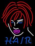 Hair Girl Logo LED Neon Sign