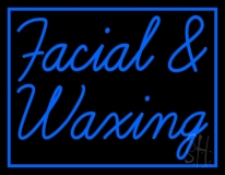 Blue Facial And Waxing Blue Border LED Neon Sign