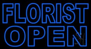 Blue Florist Open LED Neon Sign
