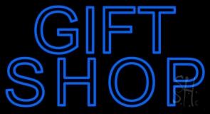 Blue Gift Shop LED Neon Sign