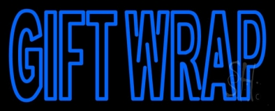 Blue Gift Wrap LED Neon Sign
