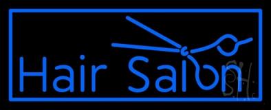 Blue Hair Salon Logo LED Neon Sign