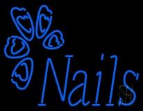 Blue Nails Logo LED Neon Sign