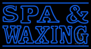 Blue Spa And Waxing LED Neon Sign
