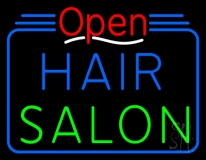 Open Hair Salon LED Neon Sign