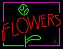 Flowers Rose Logo LED Neon Sign