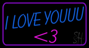 Blue I Love You LED Neon Sign