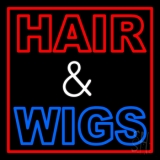 Hair And Wigs LED Neon Sign