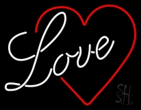 Love With Heart LED Neon Sign