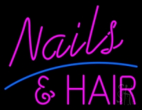 Nails And Hair LED Neon Sign