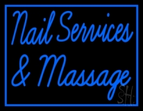 Nail Services And Massage LED Neon Sign