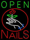 Nails Open Logo LED Neon Sign