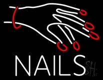 Nails With Hand Logo LED Neon Sign