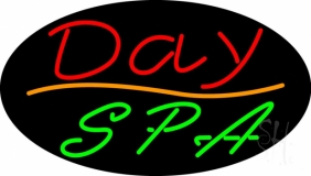 Red Day Spa Green LED Neon Sign