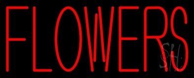 Red Flowers LED Neon Sign