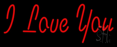 Red I Love You LED Neon Sign