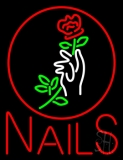 Red Nails LED Neon Sign