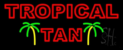 Red Tropical Tan LED Neon Sign
