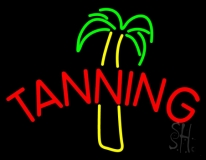 Tanning With Palm Tree LED Neon Sign