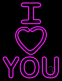 Vertical I Love You LED Neon Sign