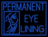 Blue Permanent Eye Lining LED Neon Sign