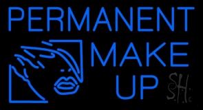 Blue Permanent Make Up LED Neon Sign