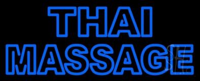 Double Stroke Thai Massage LED Neon Sign