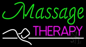 Green Massage Therapy LED Neon Sign