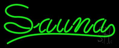 Green Sauna LED Neon Sign