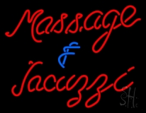 Massage And Jacuzzi Neo Sign