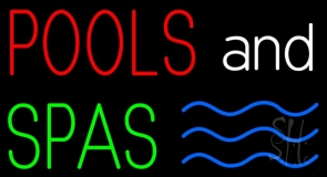 Pools And Spas LED Neon Sign