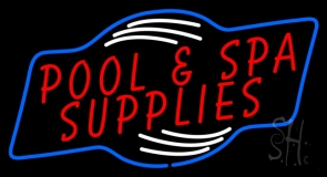 Red Pool And Spa Supplies LED Neon Sign