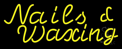 Yellow Nails Waxing LED Neon Sign