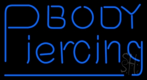 Body Piercing LED Neon Sign