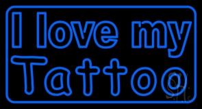 I Love My Tattoo LED Neon Sign