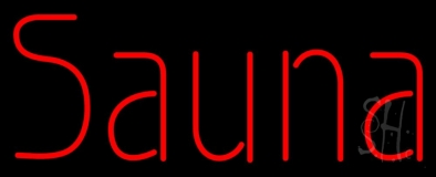 Red Sauna LED Neon Sign