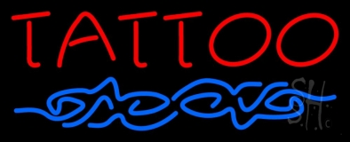 Red Tattoo Design Neon Sign